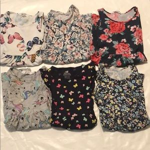 Lot of 6 dresses, girl size 4-6y, H&M
